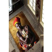 Afrika Kolyeli Desenli Dijital Baskılı Halı
