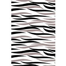İki Renkli Zebra Tasarımlı Dijital Baskılı Halı