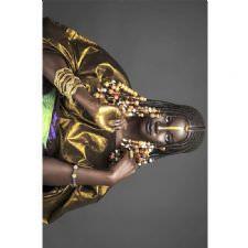 Afrika Örgülü Tasarımlı Dijital Baskılı Halı