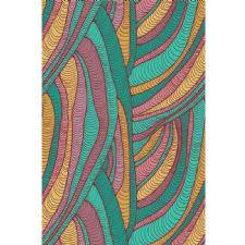 Renkli İpler Dijital Baskılı Halı