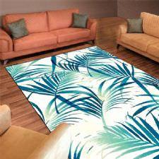 Tropikal Palmiye Desenli Dijital Baskılı Halı