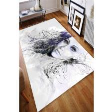 El Çizimi Portre Desenli Dijital Baskılı Halı