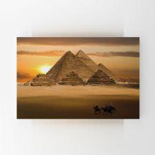 Gün Batımında Mısır Piramitleri