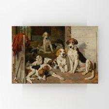 Ahırdaki Köpekler Yağlı Boya Tablosu
