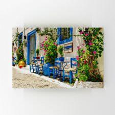 Yunanistan Sokak Tavernaları Tablosu