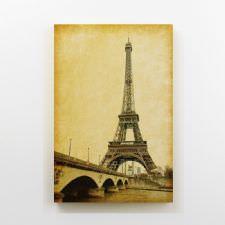 Vintage Eiffel Kulesi Tablosu