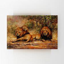 Orman İçinde Aslanlar Yağlı Boya Tablosu