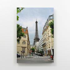Caddeler Arasından Eiffel Kulesi Tablosu