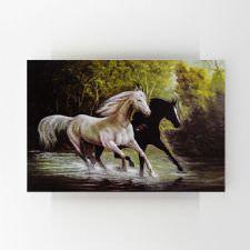 Koşan Atlar Yağlı Boya Tablosu