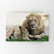 Baba ve Oğul Aslan Tablosu