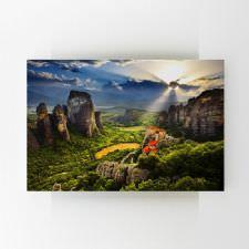 Meteora'da Gün Batımı Tablosu