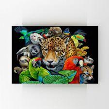 Vahşi Hayvanlar Kolajı Tablosu