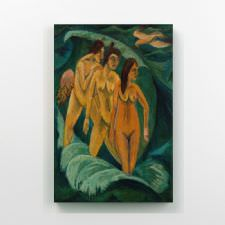 Ernst Ludwig Kirchner - Three Bathers Tablosu