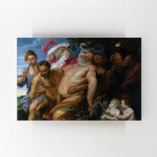 Anthony van Dyck - Sarhoş Silenus ve Satyrs Tablosu