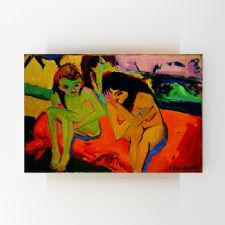 Ernst Ludwig Kirchner - Two Girls Naked Tablosu