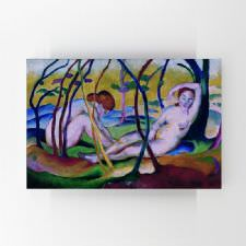 Franz Marc - Nudes under Trees Tablosu