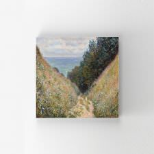 Claude Monet - Road at La Cave Tablosu