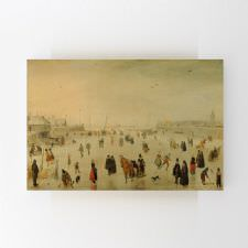 Hendrick Avercamp - A Scene on the Ice Tablosu