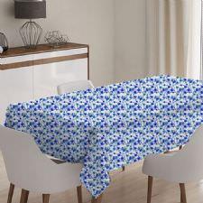 Mini Mavi Çiçekli Model Masa Örütüsü