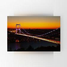 Gün Batımında Boğaziçi Köprüsü Tablosu
