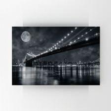 Gece Köprü Işıkları Tablosu
