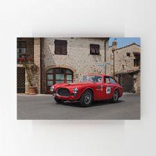 Kırmızı Klasik Spor Otomobil Tablosu