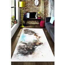 Suluboya Efektli Romantik Kediler Dijital Baskılı Halı