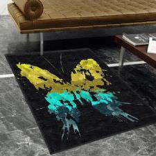 Abstract Kelebek Desenli Dijital Baskılı Halı