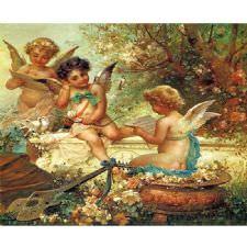 Hans Zatzka - Musician Angels Tablosu