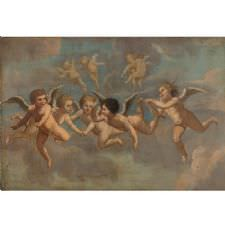 Five Flying Putti 1650 Tablosu
