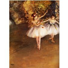 Edgar Degas - Two Ballerinas Tablosu
