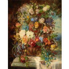 Hans Zatzka - Summer Flower Tablosu