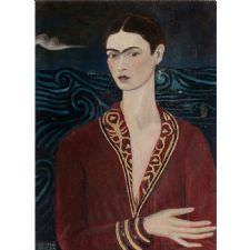 Frida Kahlo - Kadife Elbiseli Tablosu