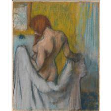 Edgar Degas - Havlu ile Kadın Tablosu