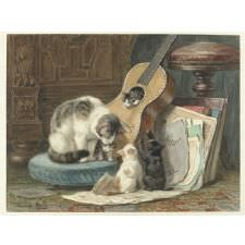 Henriette Ronner - The Harmonists Tablosu