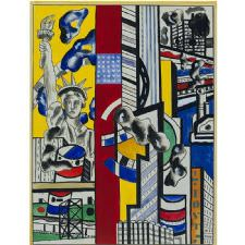 Fernand Leger - Study for Cinematic Tablosu