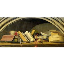 Barthelemy d' Eyck - Still Life With Books in a Niche Tablosu