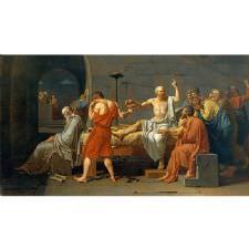Jacques Louis David - Sokrates in Ölümü Tablosu