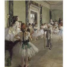 Edgar Degas - La Classe De Danse Tablosu