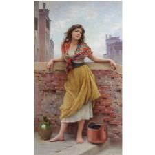 Eugene De Blaas - The Watercarrier Tablosu