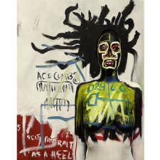 Jean-Michel Basquiat - Self Portrait As A Heel Tablosu