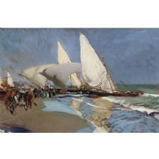 Joaquin Sorolla - Return From Fishing Tablosu