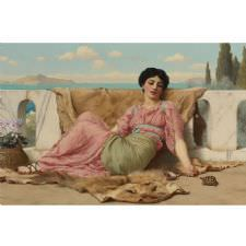 John William Godward - The Quiet Pet Tablosu