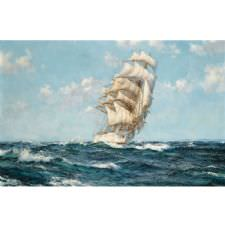 Montague Dawson - Clippership in the High Seas Tablosu