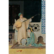 Osman Hamdi Bey - İki Müzisyen Kadın Tablosu