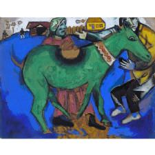 Marc Chagall - The Green Donkey Tablosu