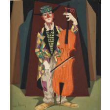 Pelle Aberg - Basspelande Clown Tablosu