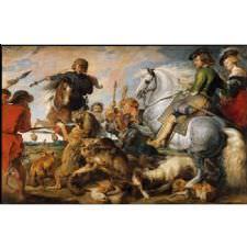 Peter Paul Rubens - Kurt ve Tilki Avı Tablosu