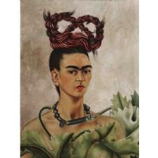 Frida Kahlo - Self Portrait with Braid Tablosu