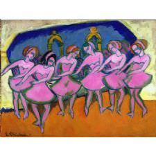 Ernst Ludwig Kirchner - Six Dancers Tablosu